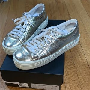 Used YSL court metallic double sole sneaker